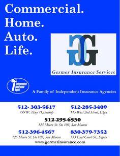 Commercial.  Home.  Auto.  Life.    512-303-5617  799 W. Hwy. 71, Bastrop    512-285-3409 ...   Germer Insurance Services - Bastrop, TX #texas #SanMarcosTX #shoplocal #localTX