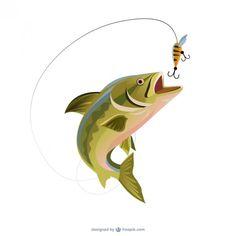 Fishing trout illustration - Freepik.com-Fish-pin-1