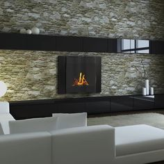 Get a decorative bio-ethanol fireplace with environmental warmth. It's perfect for restrained or large spaces such as apartments and condos, town house or at the office.  These contemporary bio-ethanol models are made with stainless steel and will add amazing relaxation and warmth to your room.  #modernblaze