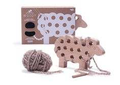 wooden sewing toy
