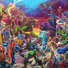 Masters Of The Universe - At last I can show the finished piece. Go to my DeviantArt galley to see the full illustration #motu #motuc #heman #skeletor #mastersoftheuniverse #classicmotu