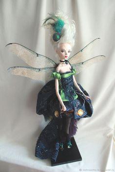 Стрекоза - купить или заказать в интернет-магазине на Ярмарке Мастеров   Статуарная кукла из ла долла. Использованы…