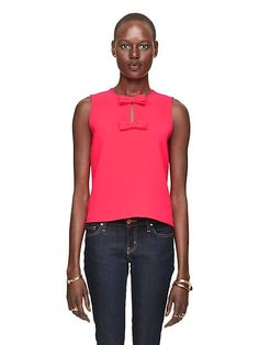 sleeveless bow top - Kate Spade New York