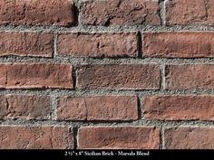 Sicilian Thin Brick Veneer / Marsala Blend