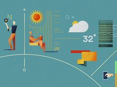 Wearables: Little People designed by Dan Matutina. Connect with them on Dribbble; Flat Design, Little People, Dan, Characters, Illustrations, Popular, Texture, Surface Finish, Short People