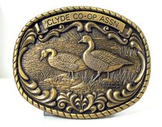 Vintage Gary Hawk Belt Buckle  Clyde by honeyblossomstudio on Etsy