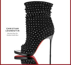 Dangerously gorgeous: Christian Louboutin's spike-studded booties.
