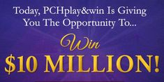 PCH Win 10 Million Dollars Sweepstakes - Bing images Instant Win Sweepstakes, Online Sweepstakes, Pch Dream Home, Lotto Winning Numbers, Lotto Numbers, 10 Million Dollars, Win For Life, Winner Announcement, Lottery Winner