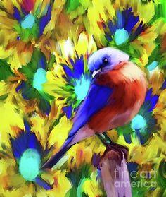 Online Art Contest - Approaching an Art Gallery - Creating an Impression Canvas Art, Canvas Prints, Bird Canvas, Artwork Prints, Nature Artists, Group Art, Nature Artwork, Bird Art, Blue Bird