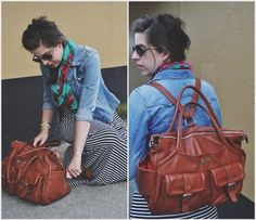 Lily Jade Elizabeth in Camel - a backpack diaper bag purse: