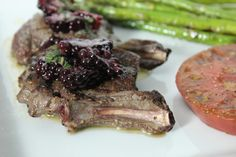 Grilled Venison Chops with Blackberry-Sage Brown Butter