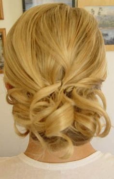 curls pinned up