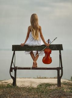 little violinist by Andrew Lucas
