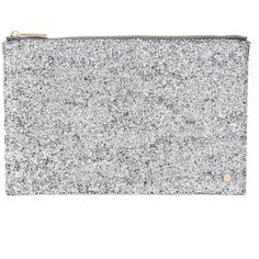 Deux Lux Starlight Pouch (355 RON) ❤ liked on Polyvore featuring bags, handbags, clutches, silver, glitter handbags, pouch handbag, pouch purse, deux lux purse and deux lux handbags