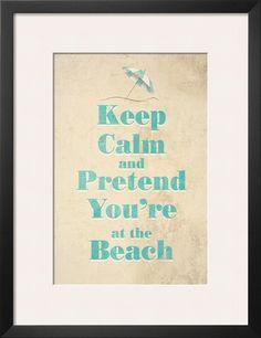 Beach Art Print at Art.com