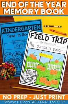 Memory books are a perfect way to gather student opinions and experiences throughout the year. Plus it serves as a sweet memento for students to look back on. This memory book was designed specifically for Pre-Kindergarten through first grade students. The pages are kid-friendly with large spaces for drawing and larger dotted lines for writing