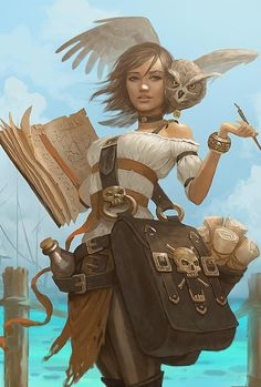 Pirate Rogue Bard Female Human Half-Elf Wizard RPG D&D Dungeons and Dragons Pathfinder Fantasy Character Design, Character Creation, Character Concept, Character Art, Concept Art, Rogue Character, Dungeons And Dragons Characters, Dnd Characters, Fantasy Characters