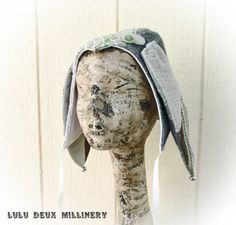 Jester Bunny in pastels by LuluDeuxMillinery on Etsy