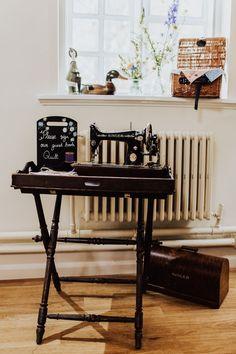 Sewing Machine Quilt Guest Book Homemade Wedding Wyldbee Photography #SewingMachine #Quilt #GuestBook #Wedding