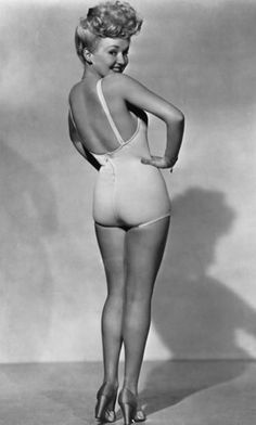 Betty Grable - one of the original pin up girls, famed for her lovely legs, said to be the best in Hollywood. One of my Dads favourites.
