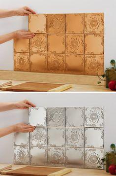Sunflower Kitchen Backsplash Tin Tiles - Set of 14 (This store accepts paypal.)