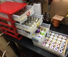 "Cake Decorating Organizer Trays.: My wife bakes and decorates cakes, and she has a ridiculous amount of tools, tips, cutters, pans, bags and other supplies, and they're always disorganized. It drives me crazy. (If you live with a cake decorator, can I get a ""testify!""?) One day, w..."
