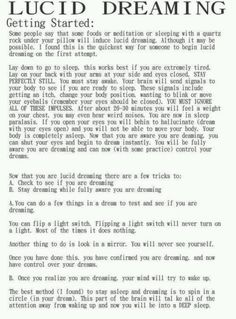 Lucid dreaming. Here ya go @Jessica Lear I've searched long and hard for this just for you! (thank me later) :P