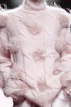 Кnitting, Mohair, Hand knitted, Sweater, Juan Vidal, Fall 2015 | ♦F&I♦