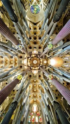 Roof of the Sagrada Familia, Spain, meherbabatravels #Barcelona #Gaudi #Sagrada_Familia