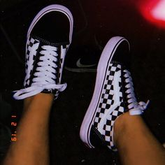 Women's black and white checkered vans Good condition I usually wear size 6 and they fit me Vans Shoes Sneakers Vans Sneakers, Old Skool Outfit, Estilo Vans, Vans Shoes Women, Vans Men, Vans Checkered, Shoe Wardrobe, Aesthetic Shoes, Night Aesthetic