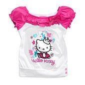 Hello Kitty Kids Shirt, Little Girls Ruffled Graphic T-Shirt