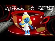 ❤Guten Morgen,der Kaffee ist heute gratis Schlumpf Videos Zoobe Animati...