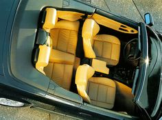 BMW Convertible - yes, the yellow is as bright as it looks E30, Bmw E36, Bmw 3 Series Convertible, E36 Cabrio, Bmw Dealership, New Bmw, Bmw Cars, Car Seats, Yellow