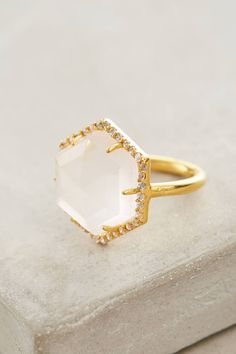 Hexa Pendant Ring by Indulgems #anthrofave #anthropologie