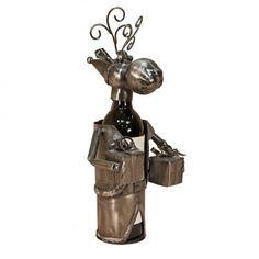 Flame Wine Bottle Holder - Christmas Moose