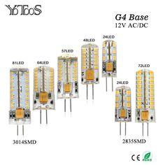 YOTOOS G4 LED Lamp 12V AC/DC Corn Light 1.5w 2w 3w 4w 360 Beam angle Bulb g4 Led Lamp Replace Chandelier Crystal  halogen Light