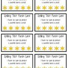 8 Punch Cards of various themes!   Included are: Spelling Test Punch Card (5 punches) Homework Punch Card per assignment (12 ...