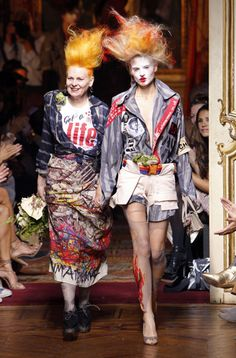 (2/23/16) Vivienne Westwood is a fashion designer who has been an activist in bringing out all kinds of styles, and more recently reflecting that of the punk fashion. She always puts a wild twist on her creations, and the punk look is no different.