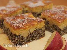 Makový koláč s jablkami - Koláč je výborný, vyskúšajte!