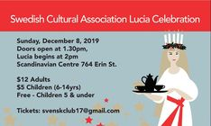 🌟Lucia celebration🌟 Happening on Sunday, December 8th at 2 pm at the Scandinavian Cultural Centre (764 Erin St)!!  Tickets $12 adults, $5 children 6-12, under 5 free.  No tickets will be sold at the door. To order tickets, email Svenskclub17@gmail.com, order by etransfer or by calling 204-633-2067 #Winnipeg #lucia