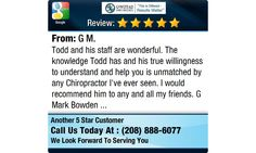 Todd and his staff are wonderful. The knowledge Todd has and his true willingness to...