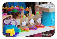 Summer Pool Birthday Party Ideas | Photo 1 of 27 | Catch My Party