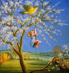 Brigid Marlin Awesome Fantastical Art Work Bird-of-Spring