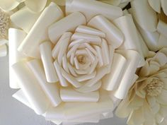 Paper Flower Wall Decor Wedding Decor Home by MySparkledLife