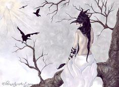 ElvenstarArt -- Fantasy, Fairy and Gothic Art -- Birds of a Feather