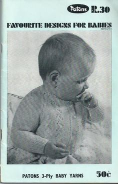 Favourite Baby Patterns - Patons Knitting Book No.R.30 - 1970s