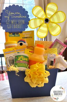 DIY: You are my Sunshine, Get Well Soon Gift Basket