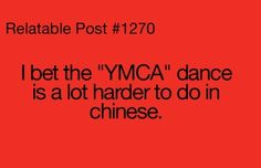 I Bet The YMCA Dance Is A Bit Harder To Do In Chinese,  Click the link to view today's funniest pictures!
