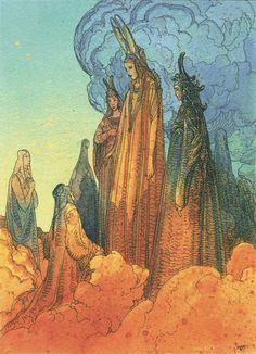 """""""After Doré's """"The Divine Comedy"""". http://www.novaplanet.com/novamag/galerie-le-paradis-selon-moebius"""