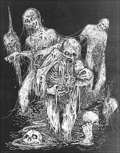 Zombie art by Mark Riddick
